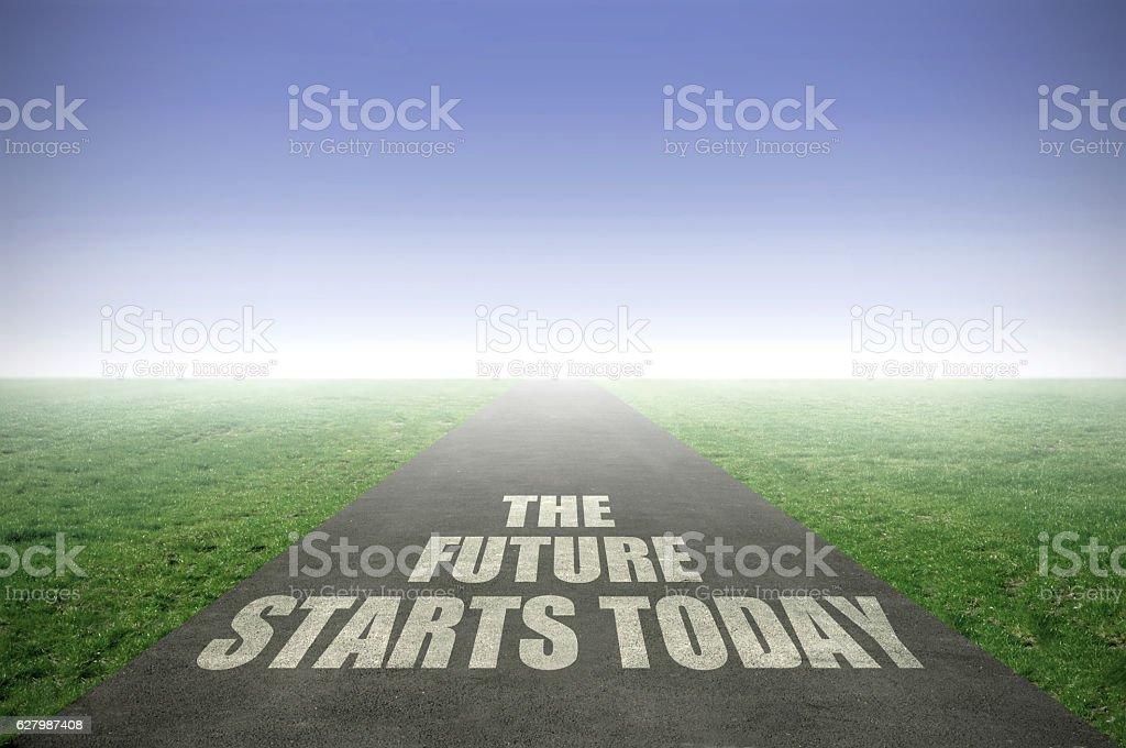 The future starts today stock photo