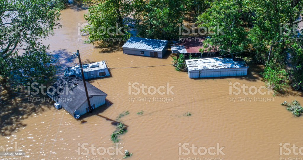 The Future will bring more floods and Climate Change will continue to get worse stock photo