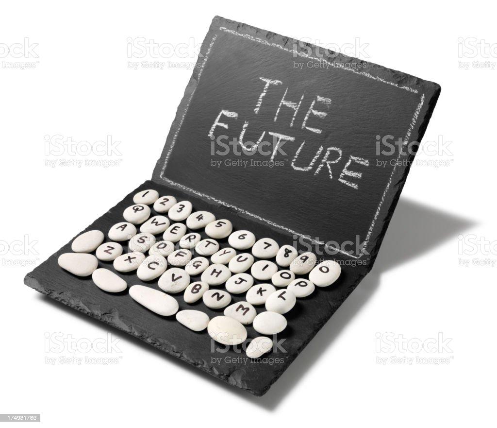 The Future Written on a Slate Computer stock photo
