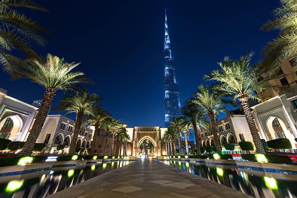 The futuristic city of Dubai stock photo