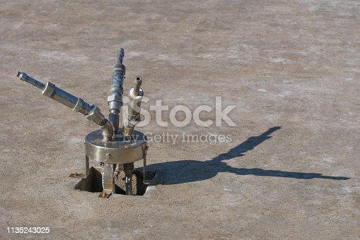 istock The futuristic water gun 1135243025