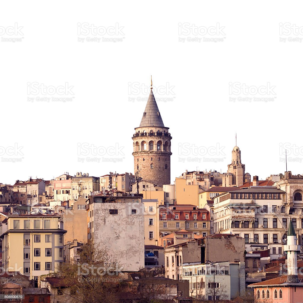 The Galata tower stock photo