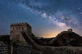 The galaxy in the Great Wall of China