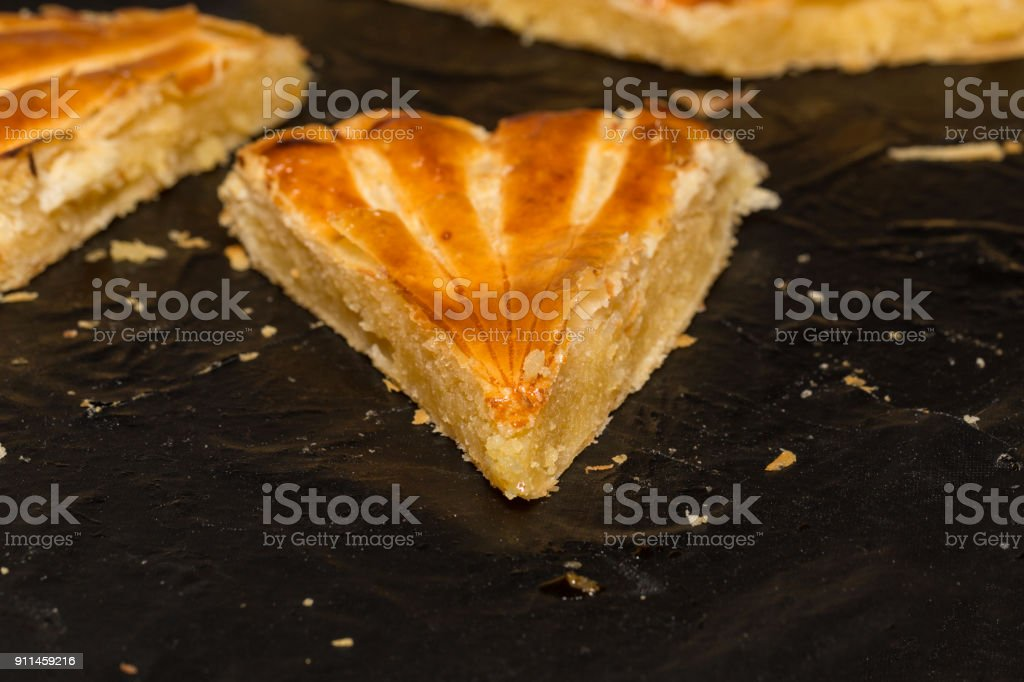 The galette des rois : french tradition stock photo