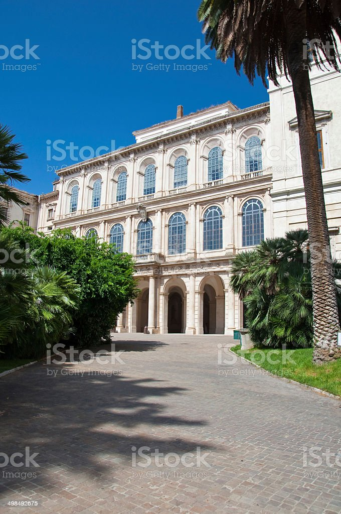 The Galleria Nazionale d'Arte Antica. Rome, Italy. royalty-free stock photo