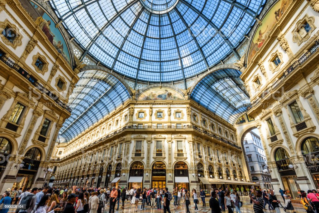 The Galleria Vittorio Emanuele II in Milan, Italy stock photo