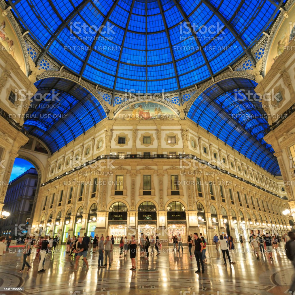 The Galleria Vittorio Emanuele II shopping mall in Milan, Italy stock photo