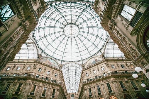 The Gallerie Vittorio Emanuele II. Milan, Italy.