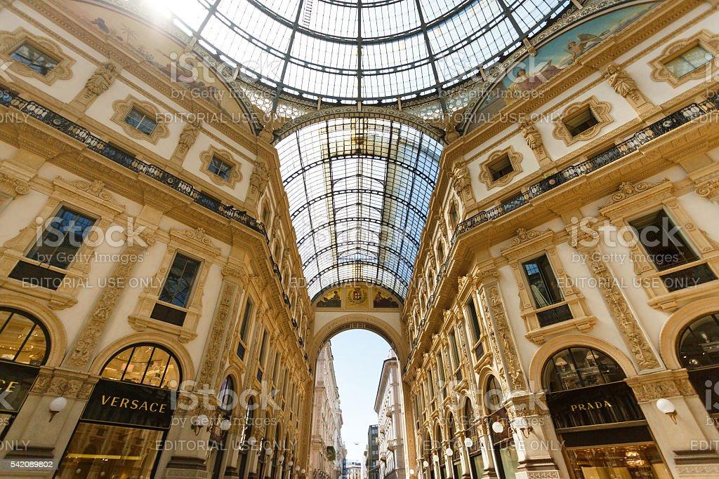 The Gallery Emanuele Vittorio, Milan stock photo