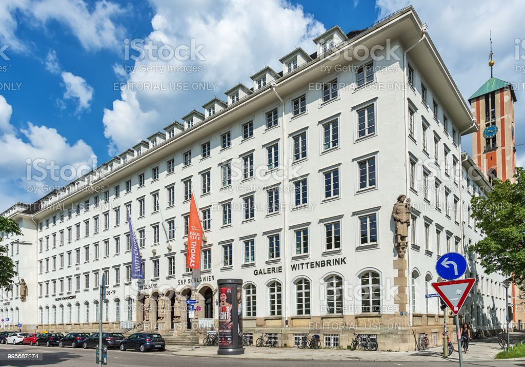 The gallery Wittenbrink is an art gallery in Munich. stock photo