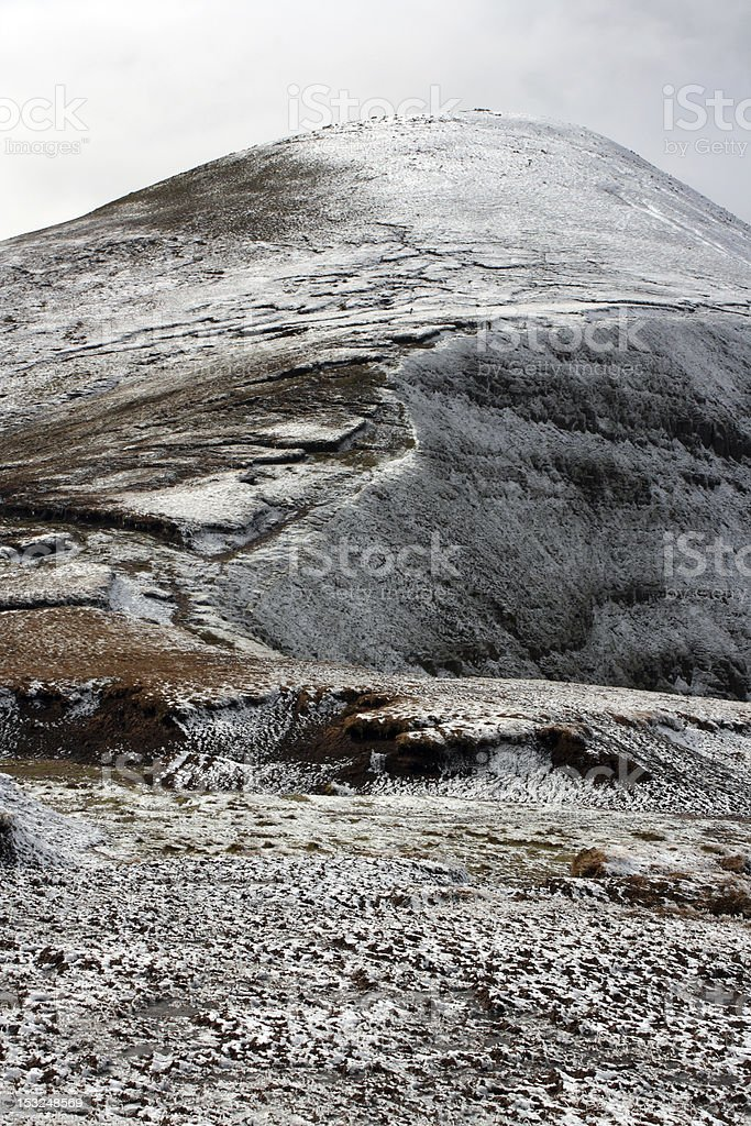 The Galtee mountains in winter, Ireland. royalty-free stock photo