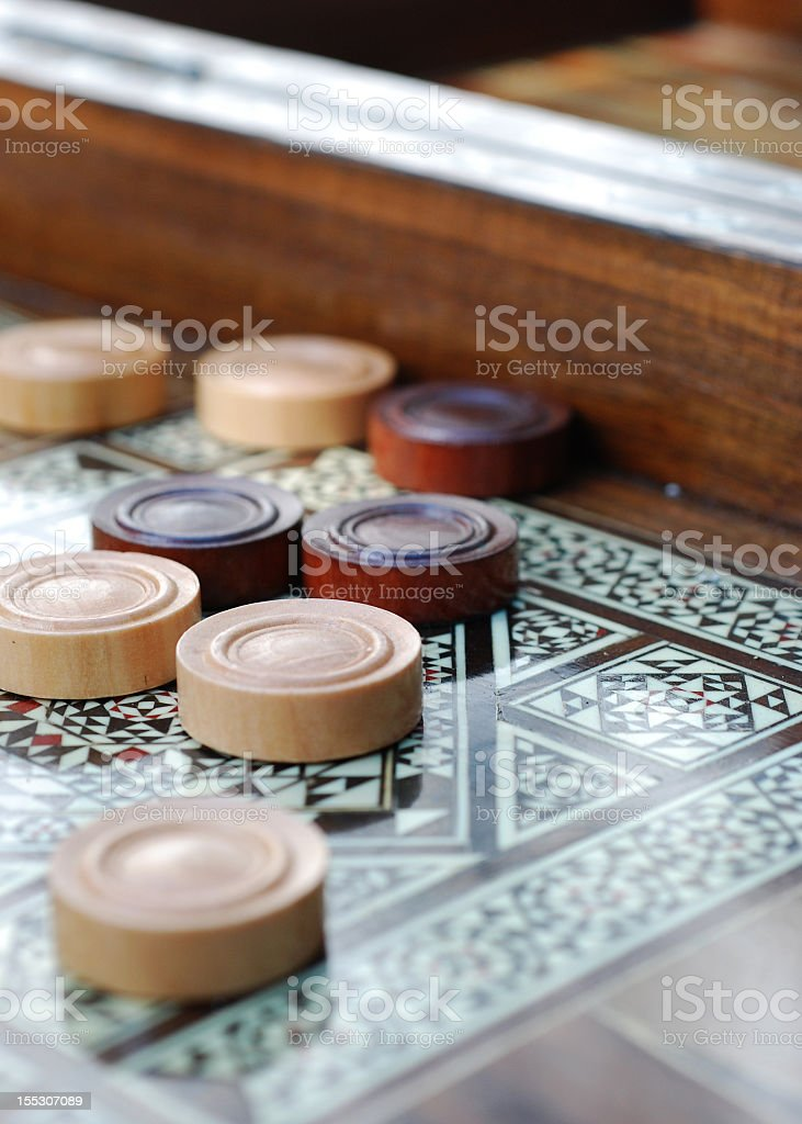 The game of Backgammon royalty-free stock photo