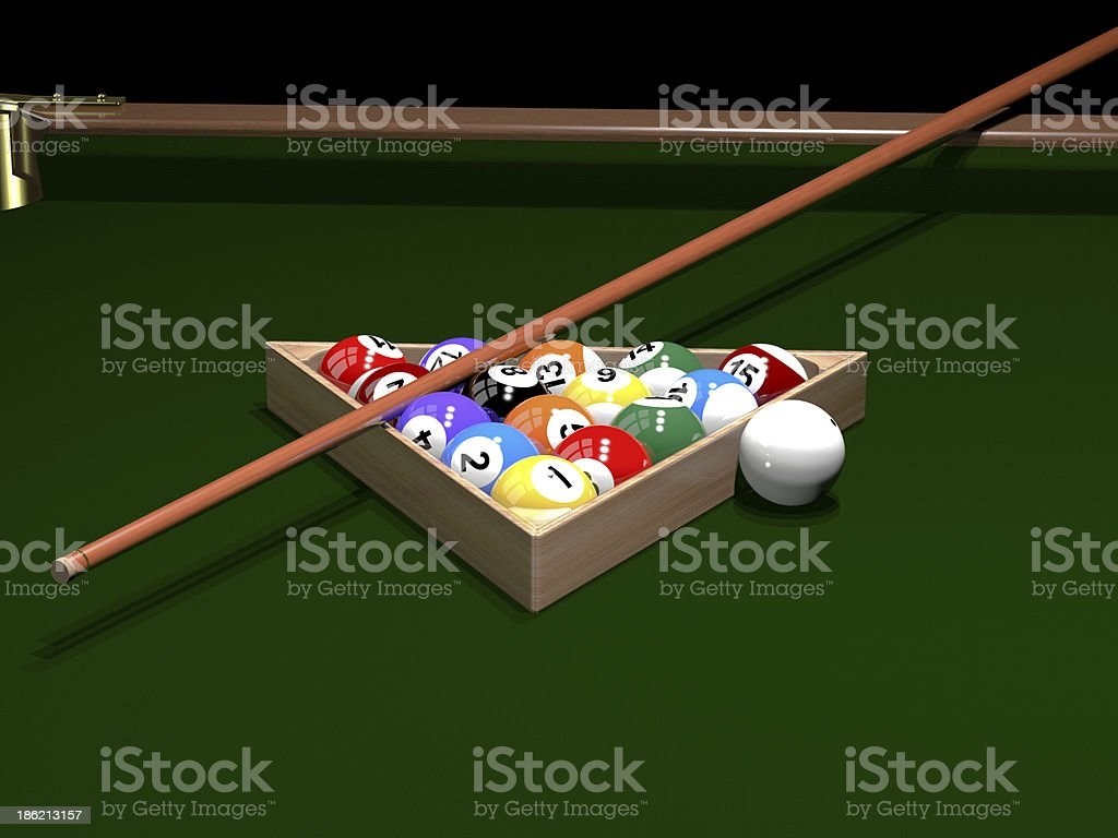 The game of billiards stock photo
