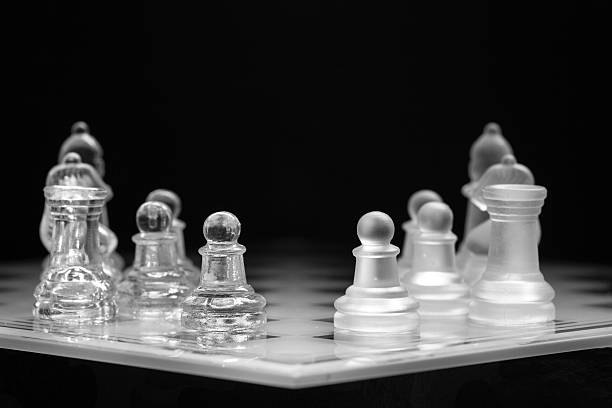 The Game Pieces on a playing board abjure stock pictures, royalty-free photos & images