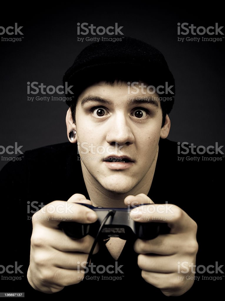 The Gamer royalty-free stock photo