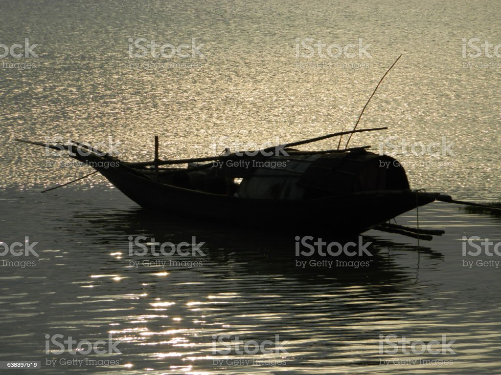 the ganga river. stock photo