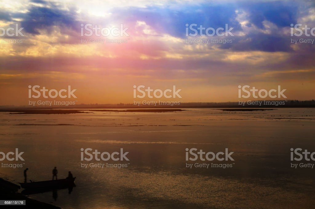 The Ganges River, India stock photo