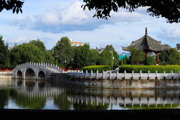 Der Garten im Tempel von Konfuzius, Jianshui, Yunnan, China – Foto