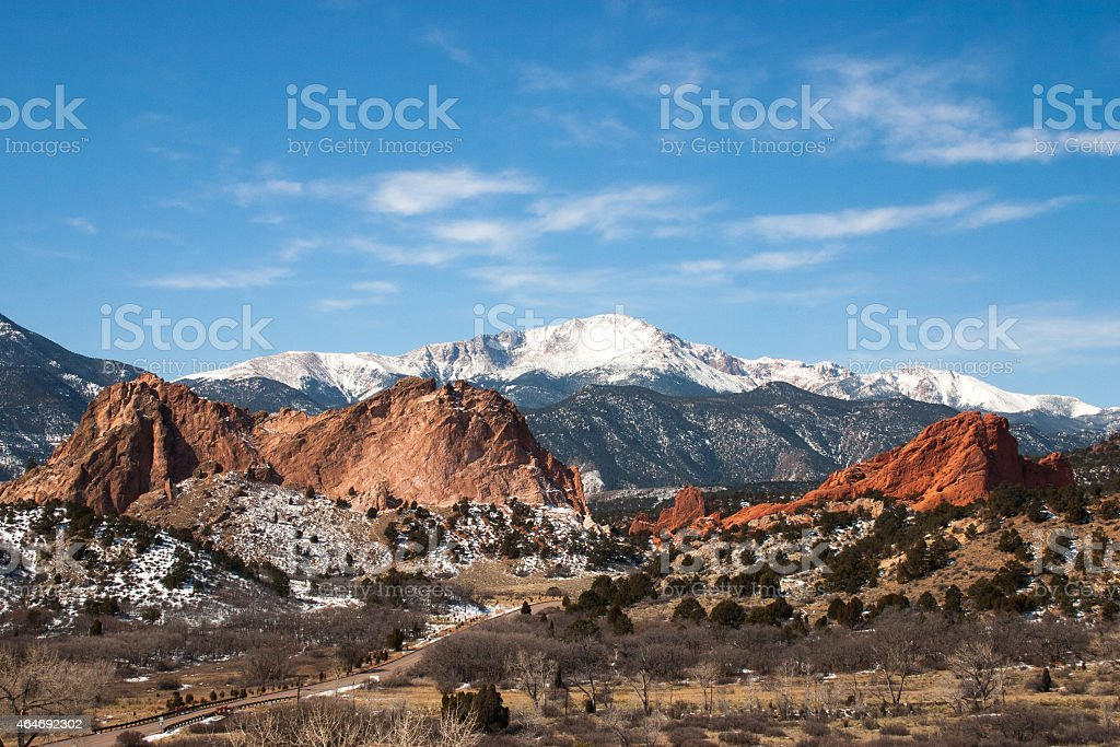 The Garden of the Gods Park, Colorado stock photo