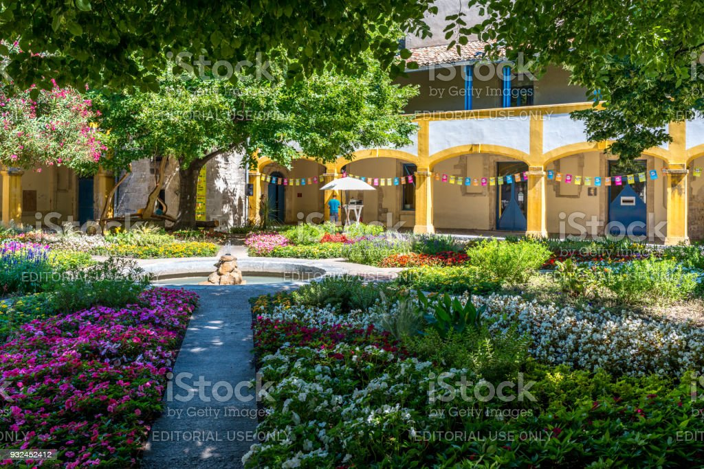 The Garden Of The Hospital In Arles Royalty Free Stock Photo