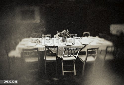 Table set, garden, lunch, vintage,