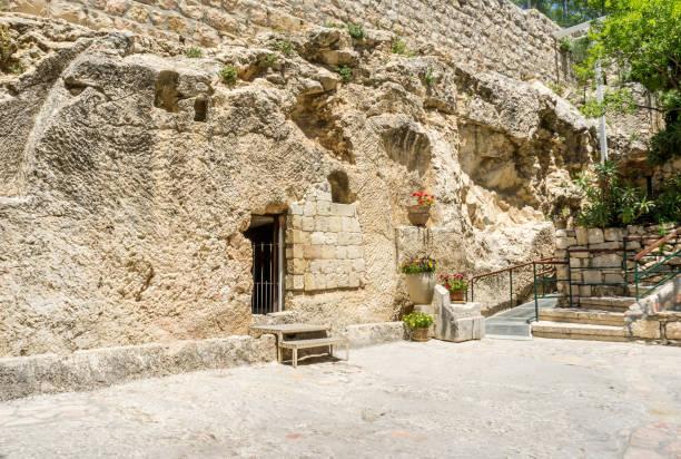 The Garden Tomb in Jerusalem, Israel stock photo