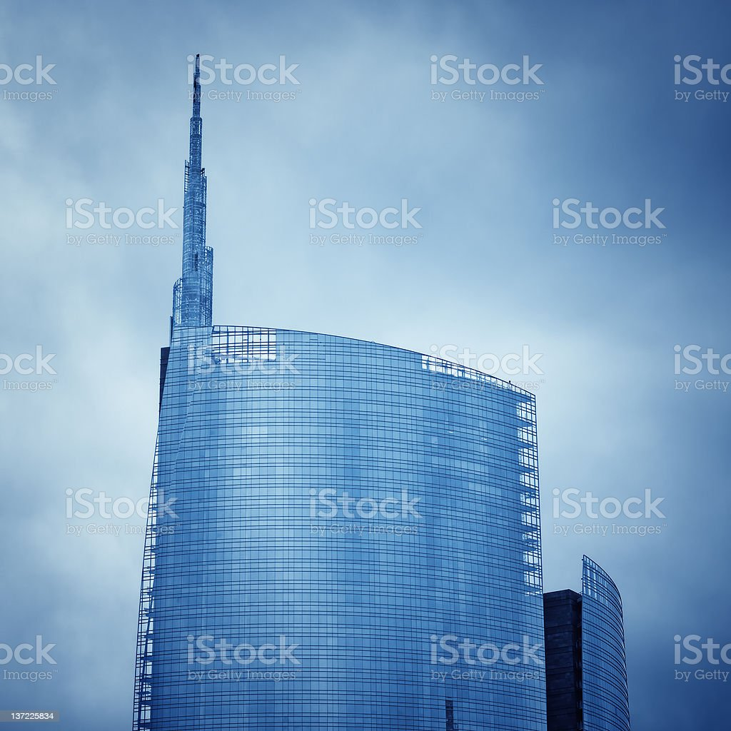 The Garibaldi Tower in Milan - Italy royalty-free stock photo