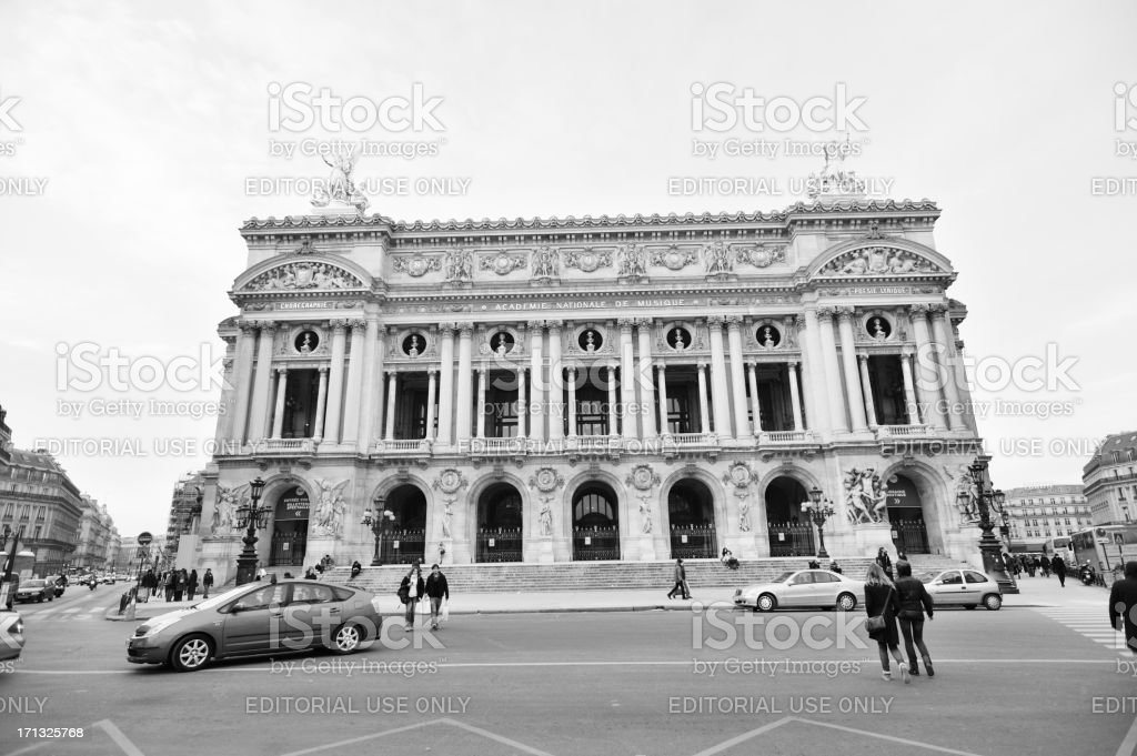 The Garnier Opera House in Paris France royalty-free stock photo