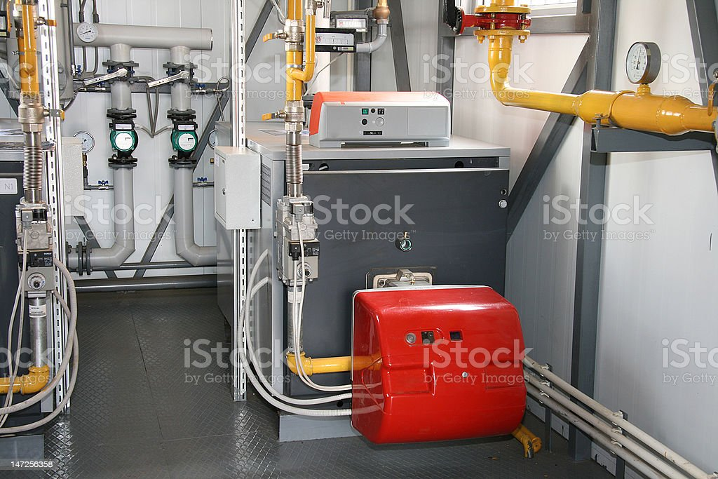 The gas boiler stock photo