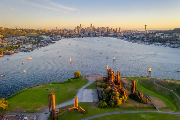 The Gas Works Park in Seattle in Daytime stock photo