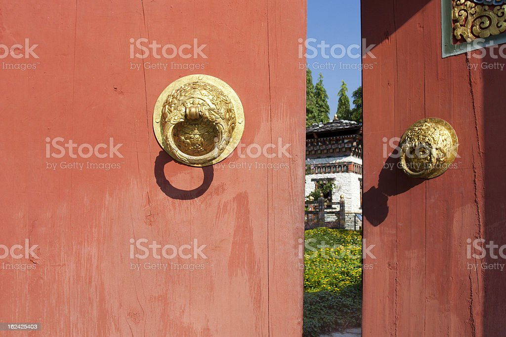 The gate bhutan style royalty-free stock photo