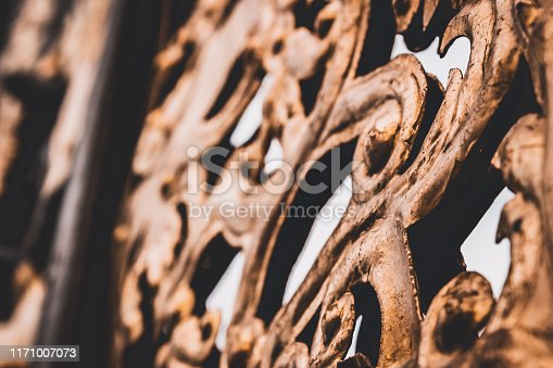 The gate in the Baroque style.close up