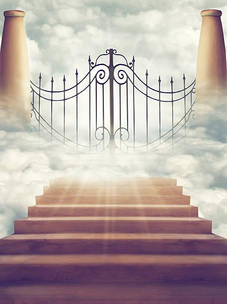 die gates of heaven - engelportal stock-fotos und bilder