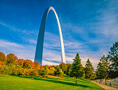 istock The Gateway Arch is surrounded by the Gateway Arch National Park 1273563516