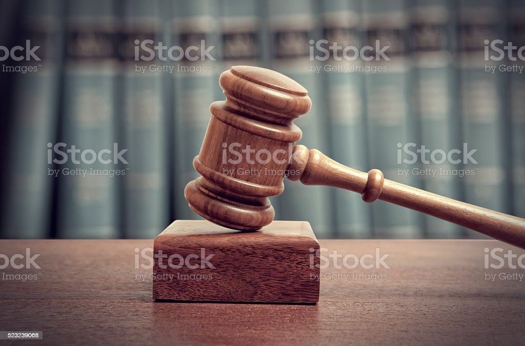 The gavel stock photo