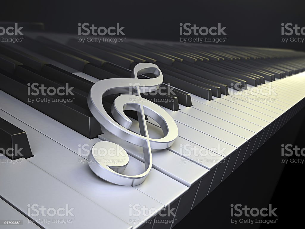 The G-Clef symbol royalty-free stock photo