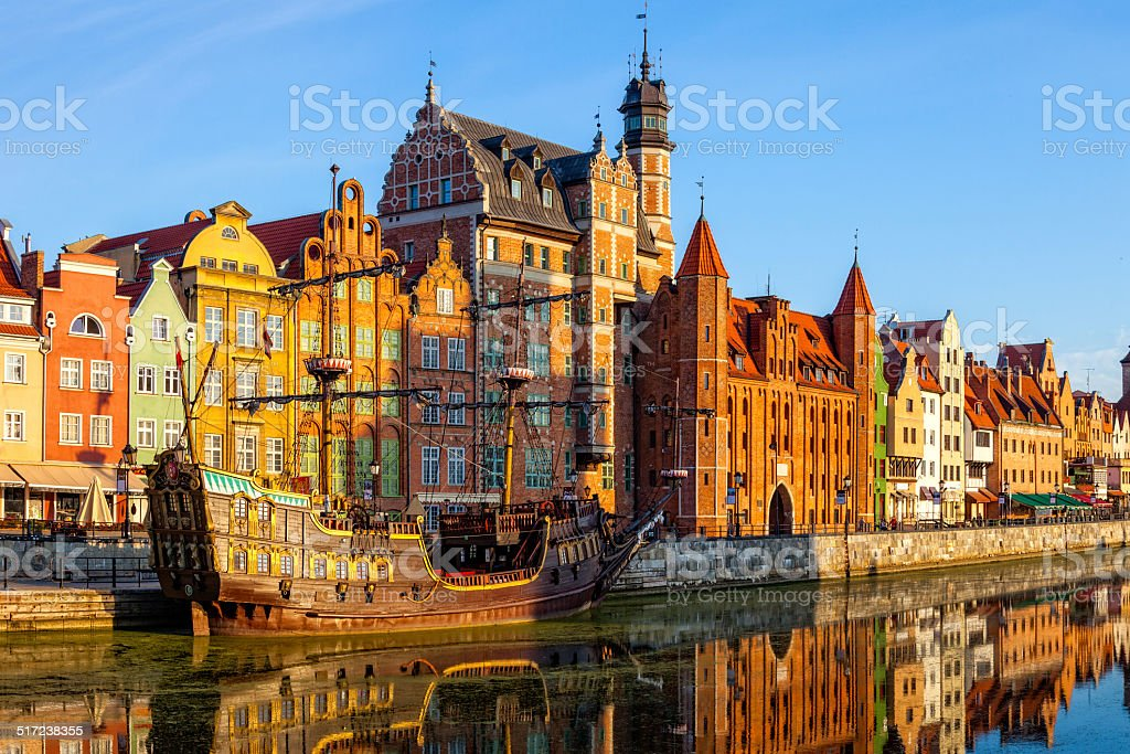 The Gdansk Old Town stock photo
