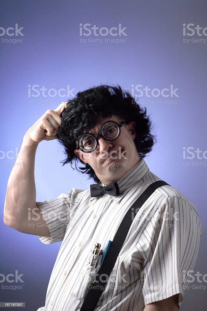 The Geek: Stumped royalty-free stock photo
