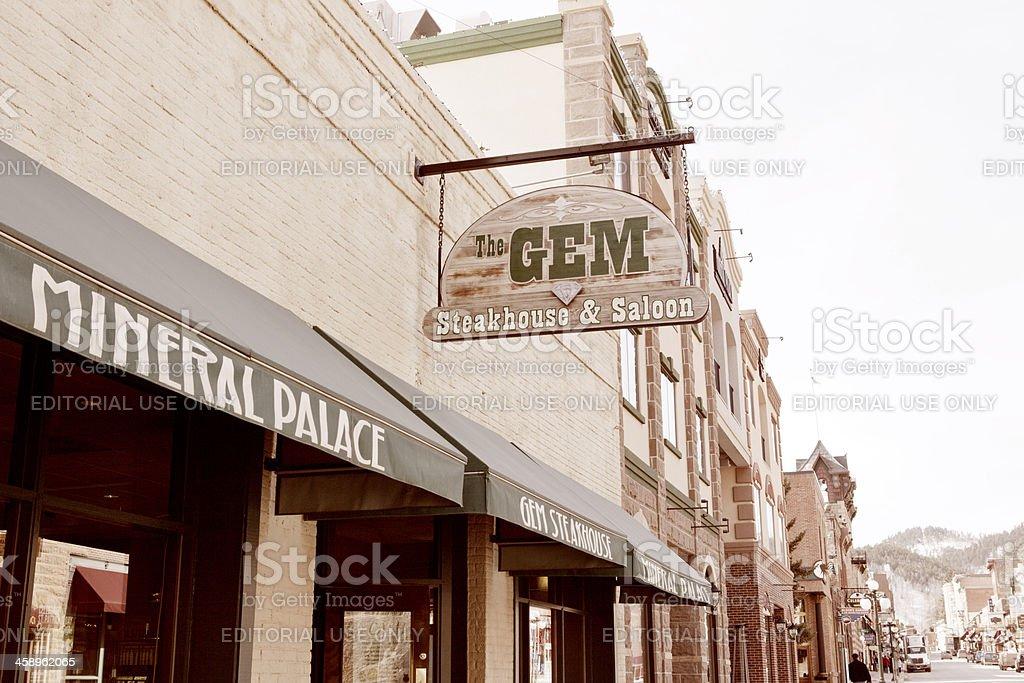 The Gem - Deadwood, South Dakota royalty-free stock photo