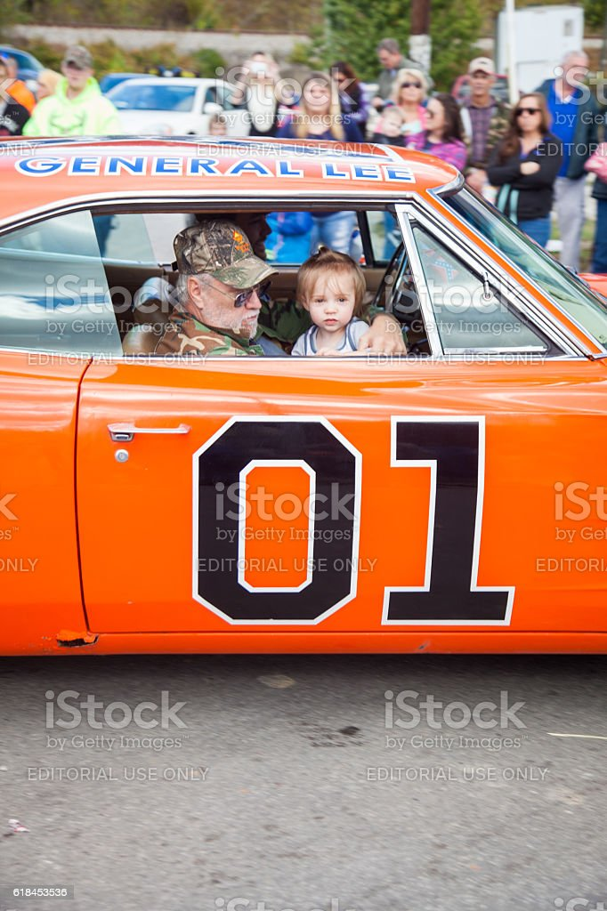 The General Lee on Main Street stock photo