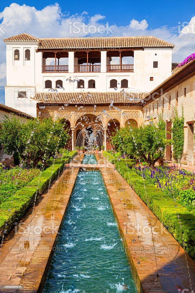 The Generalife of Alhambra de Granada stock photo