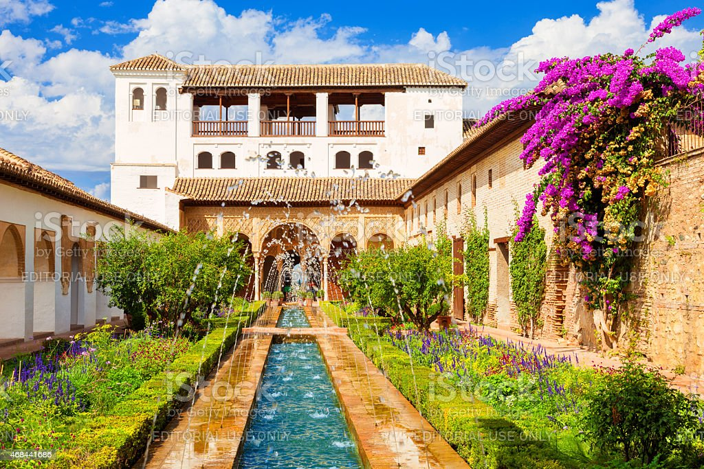The Generalife of the Alhambra de Granada stock photo