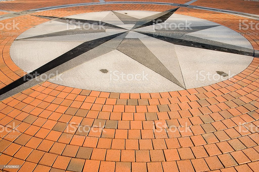 The geographical centre of Europe in Lithuania royalty-free stock photo