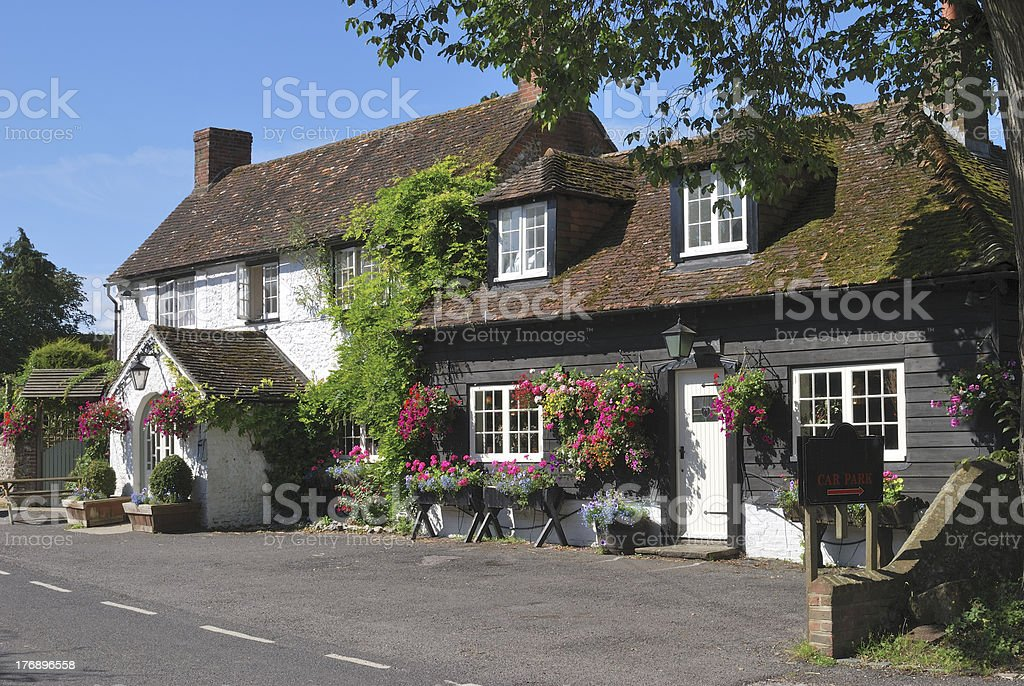 The George Inn at Eartham. West Sussex. England stock photo