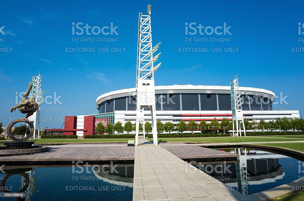 The Georgia Dome stock photo