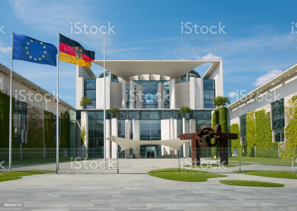 The German Chancellery building in Berlin stock photo