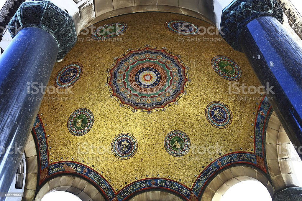 The German Fountain Detail / Istanbul royalty-free stock photo