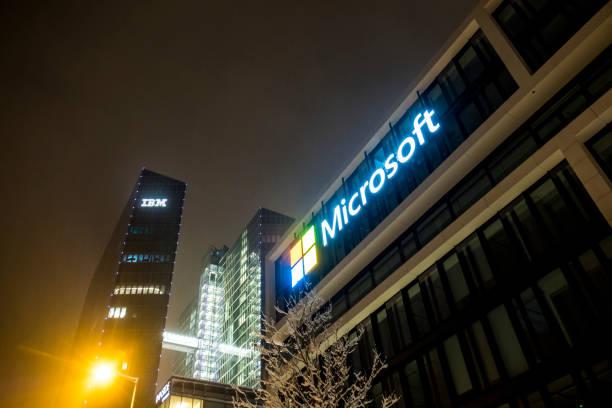 Die Deutschlandzentrale von Microsoft befindet sich in der Nähe der Highlight Towers, wenn IBM und Fujitsu – Foto