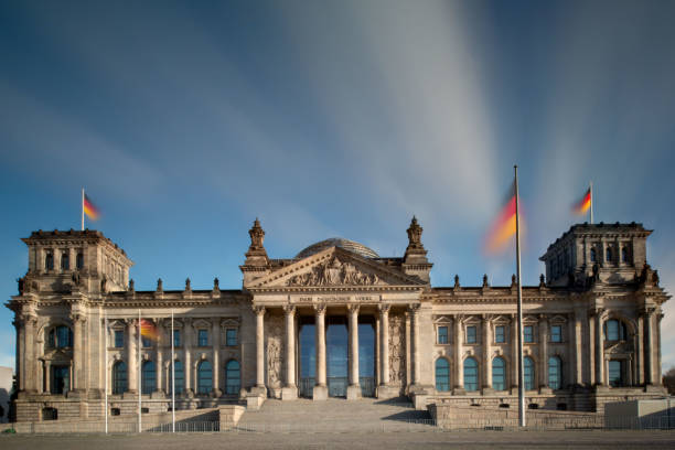 The german parliament building in Berlin - no people