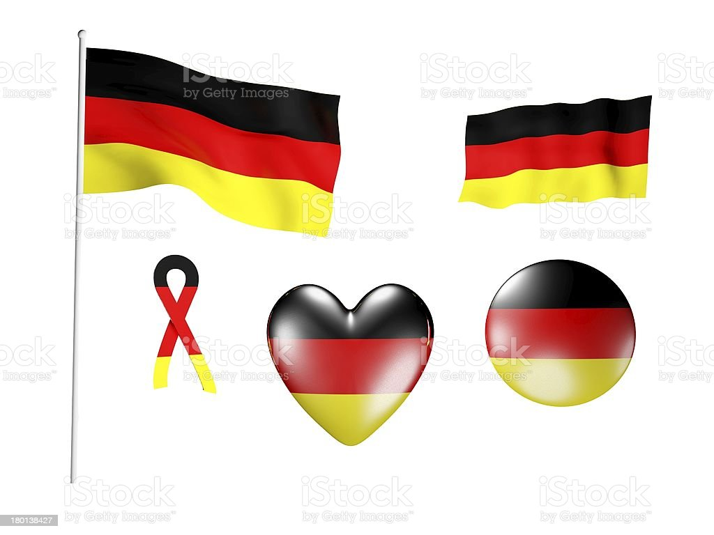 The Germany flag - set of icons and flags royalty-free stock photo